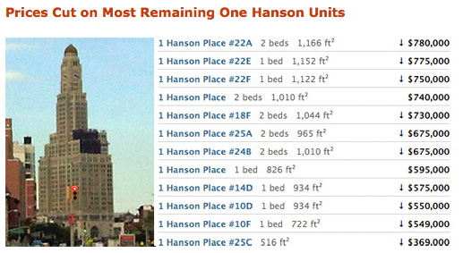 Price Cuts - One Hanson Place